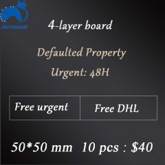 4-layer board 5cm*5cm 10pcs     Free shipping