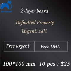 2-layer board 10cm*10cm 10pcs     Free shipping